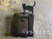 おしゃれで人気のステンレス製猫インターホンカバー