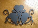 おしゃれで人気のロートアイアン風アルミ製オーダー妻飾り家紋のモチーフ