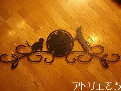 丸に剣片喰家紋妻飾り。アルミ製の和風妻飾り。