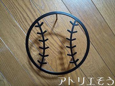 野球ボール妻飾り 。錆に強いステンレス製妻飾り。